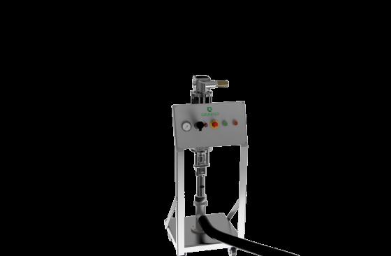 IBC transfer pump system trolley mounted