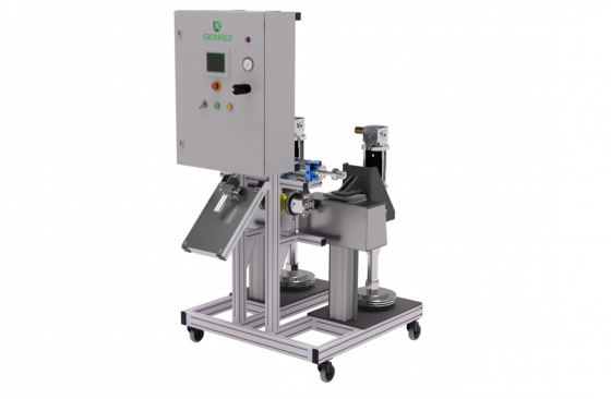 2-part adhesive cartridge filling machine